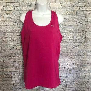 Under Armour Pink Attached Bra Workout Shirt XL